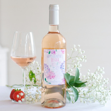 Provence Rosé personalised wine bottle
