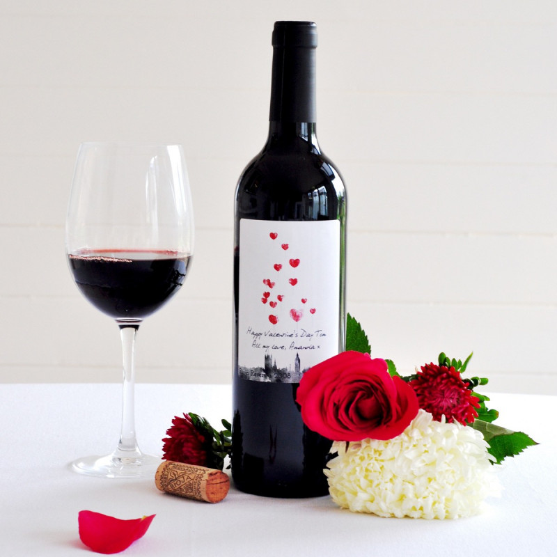 It is an image of Comprehensive Personalised Red Wine Label