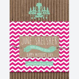Kraft Pink Chevron - Green