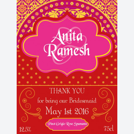 Personalised Wine Label - Bollywood Red