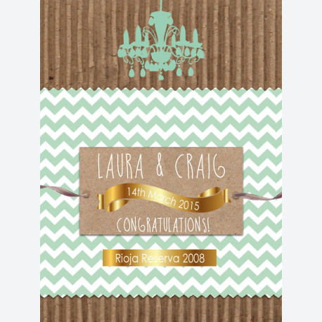 Personalised wine label for wedding