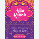 Personalised wine label - Bollywood Purple