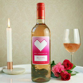 Personalised rose wine with gift packaging
