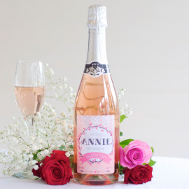 Personalised Sparkling Rosé wine