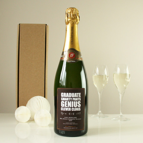 Personalised champagne bottle