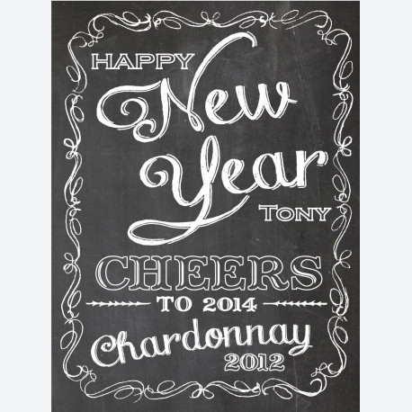 Chalkboard New Year