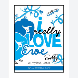 Love Ewe Blue - Bespoke Wine Label