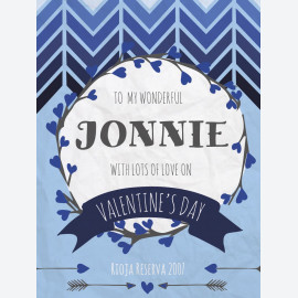 Arrows - Navy - Personalised Wine Label for Valentines