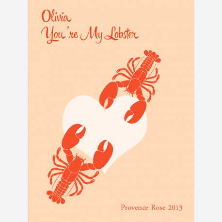 Personalised wine label - Lobster