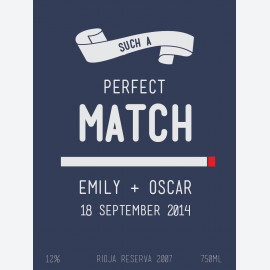 Perfect Match Personalised Wine Label