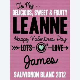 Delicious and Sweet - Personalised Wine Label