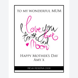 Personalised wine for mothers day
