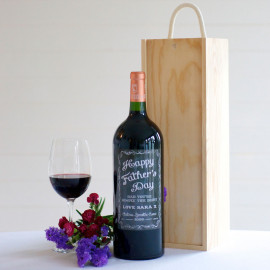 Personalised Bordeaux magnum of red wine