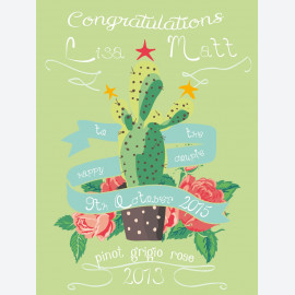 Mexican Fiesta Wedding Personalised Wine Label