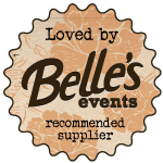 Belle's Events Recommended Supplier Badge