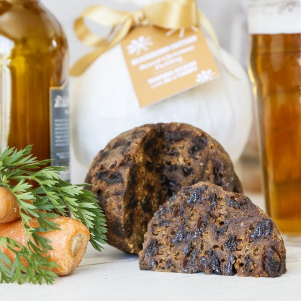 Ale and carrot Christmas pudding from Blackberry Cottage
