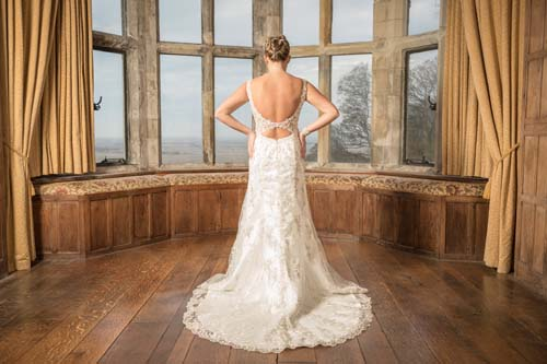 Back of Wedding Dress from Victoria's Bridal Boutique