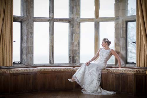 Bride in Wedding dress from Victoria's Bridal Boutique