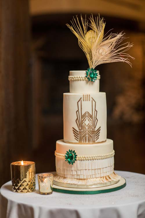 Art Deco Wedding Cake by Sharon's Cake Couture