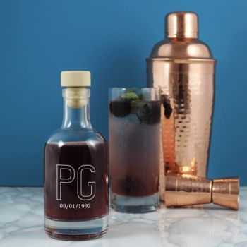 Monogrammed decanter from Copper & Sable