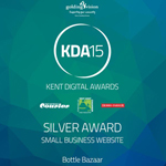 Kent Digital Award for Small Business Website 2015 - Silver Winner - Bottle Bazaar