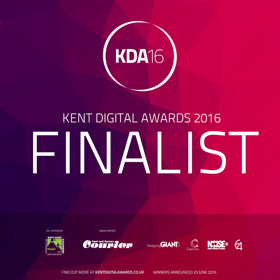 Kent Digital Awards Finalist 2016