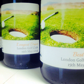 Personalised wine bottles for Corporate gifts