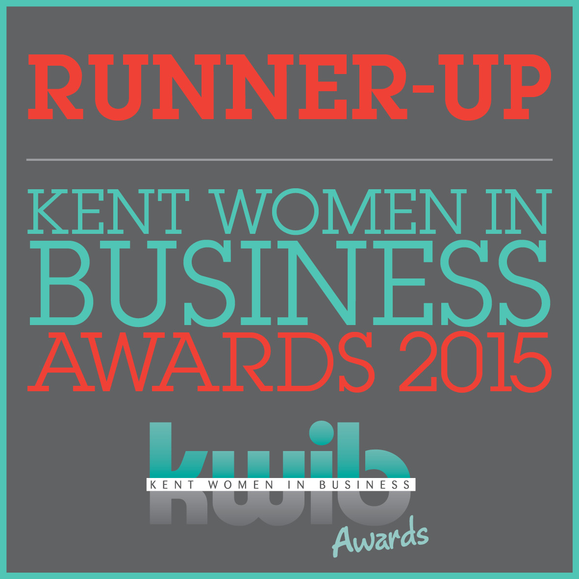 KWIB Kent Women In Business Runner Up Retailer of the Year 2015 Award