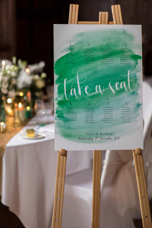 Tableplan for a wedding by ByBlossom