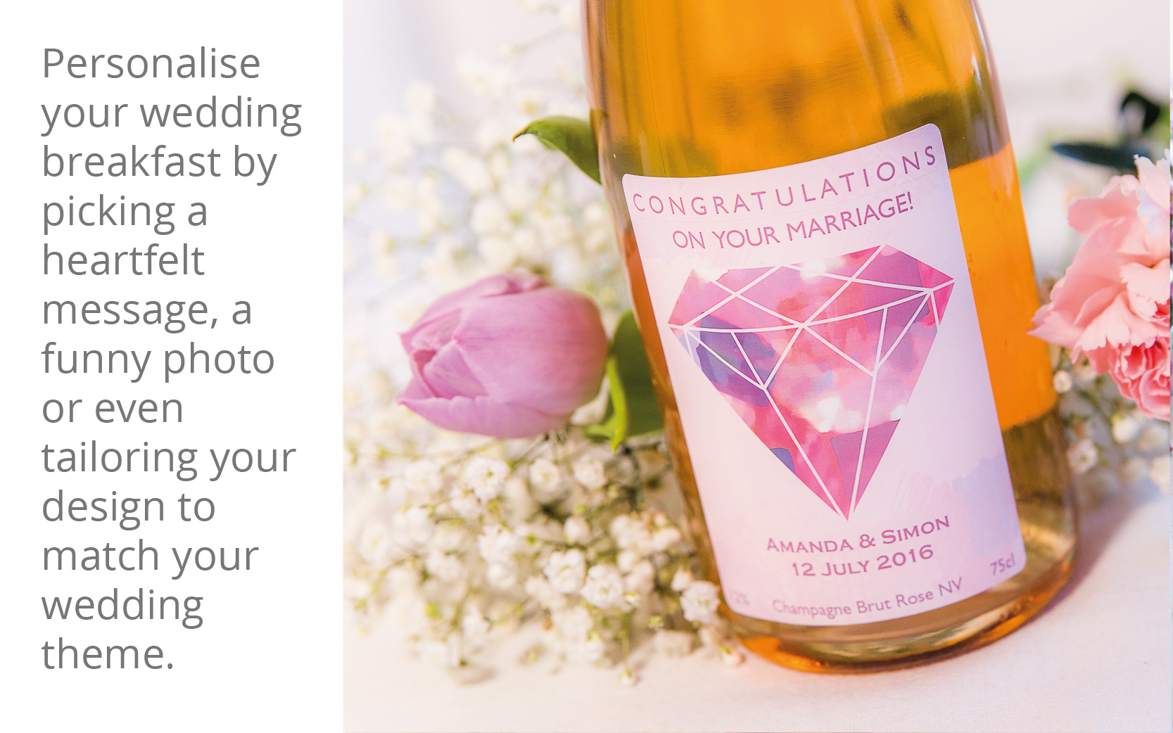 Personalised wines for your wedding party