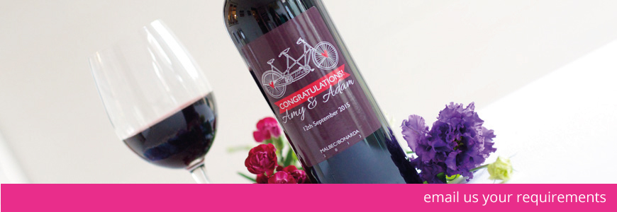 personalised wedding wine
