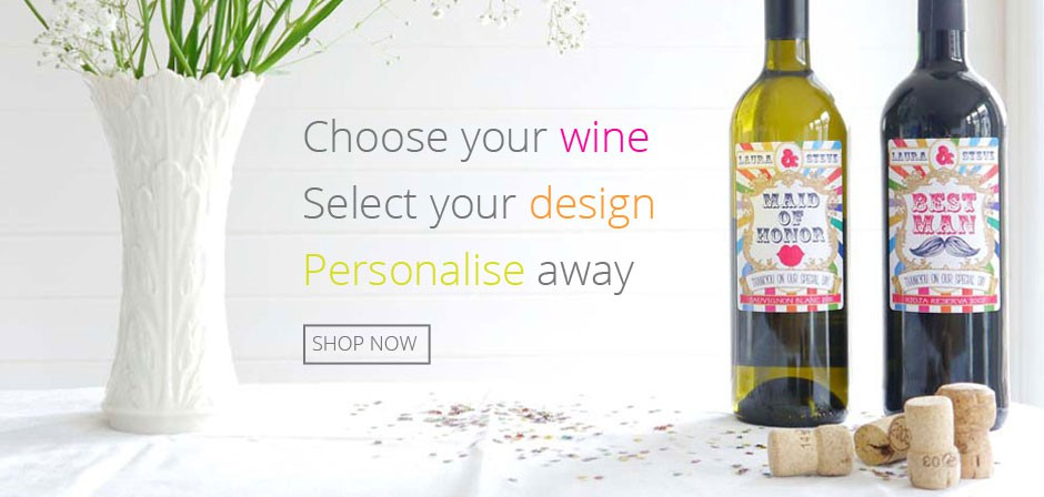 Wine Bottles with personalised labels
