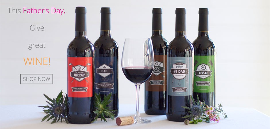 Father's Day Personalised Wine Label Designs