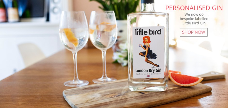 Buy a personalised bottle of Little Bird Gin